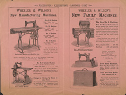 Advert for Wheeler & Wilson, sewing machine manufacturer, reverse side 7537